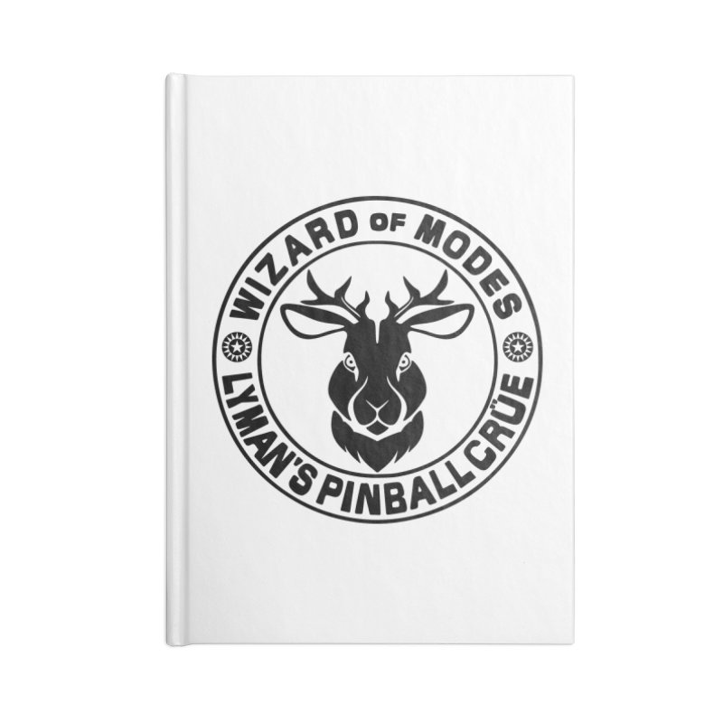 Wizard of Modes Black Accessories Lined Journal Notebook by Lymans Tavern