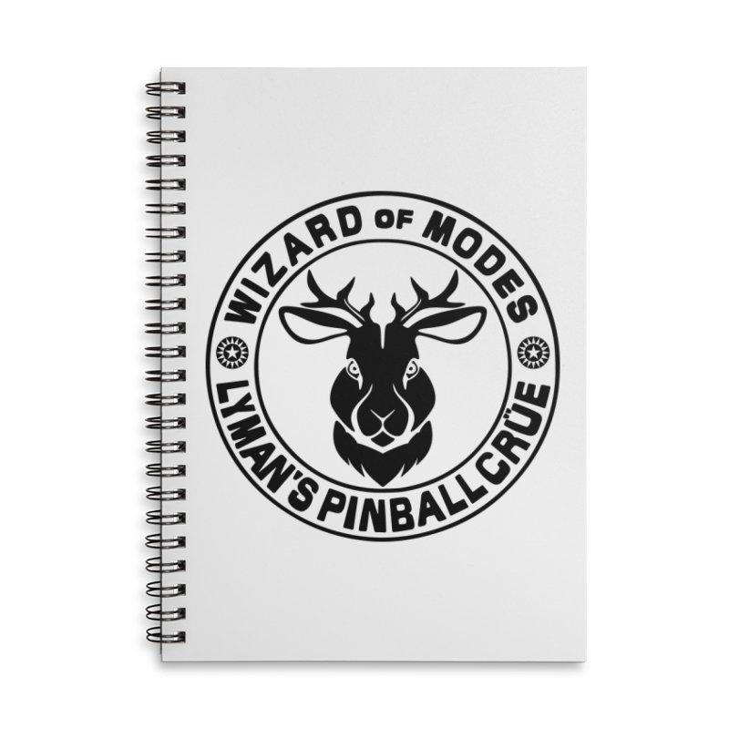 Wizard of Modes Black Accessories Lined Spiral Notebook by Lymans Tavern