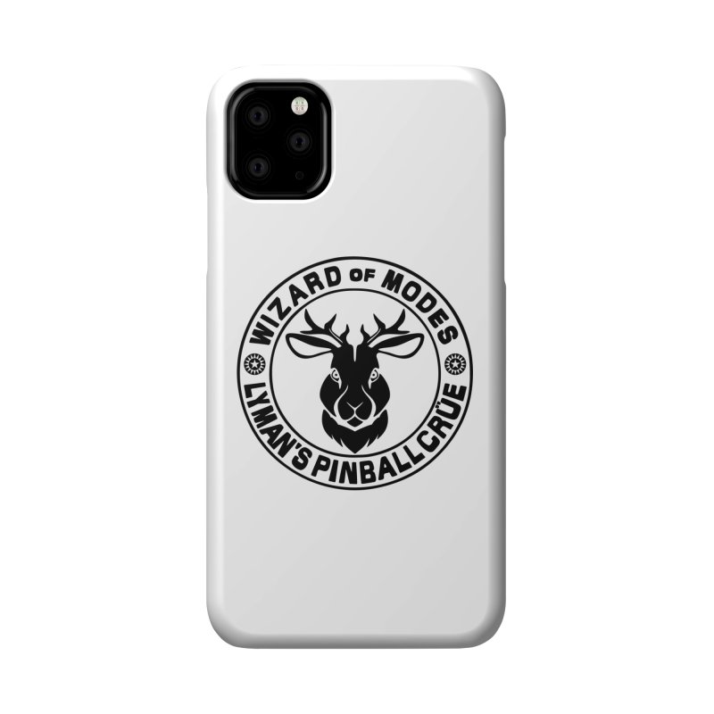 Wizard of Modes Black Accessories Phone Case by Lymans Tavern