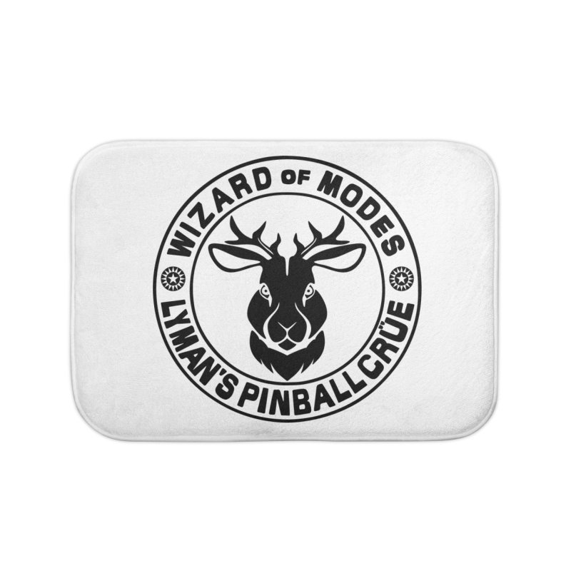 Wizard of Modes Black Home Bath Mat by Lymans Tavern