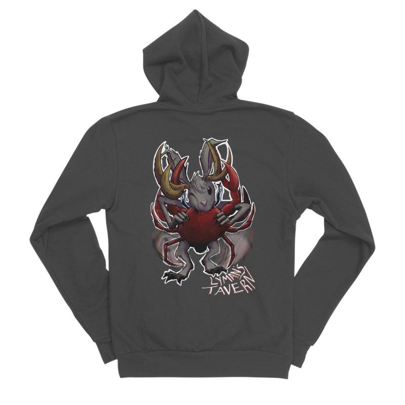 Jackelope and Crab Men's Sponge Fleece Zip-Up Hoody by Lymans Tavern