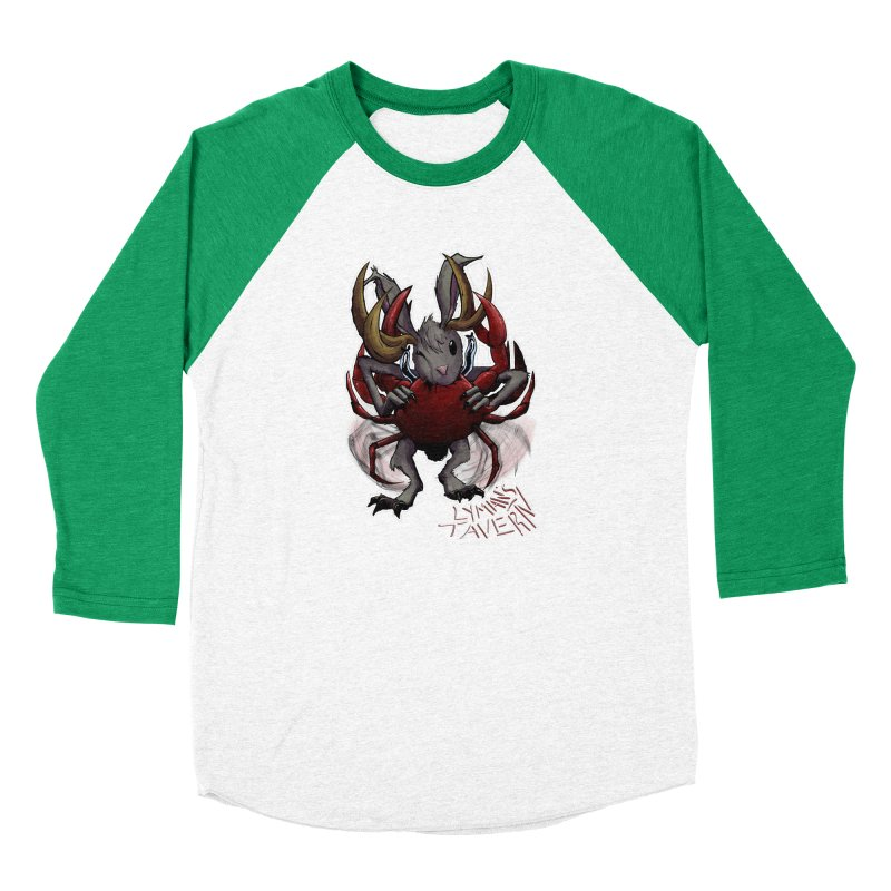 Jackelope and Crab Women's Baseball Triblend Longsleeve T-Shirt by Lymans Tavern