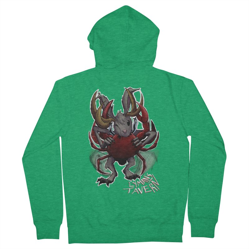 Jackelope and Crab Men's Zip-Up Hoody by Lymans Tavern