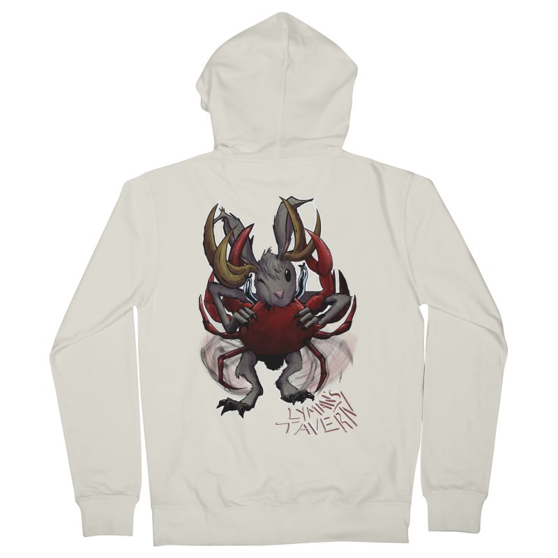 Jackelope and Crab Men's French Terry Zip-Up Hoody by Lymans Tavern