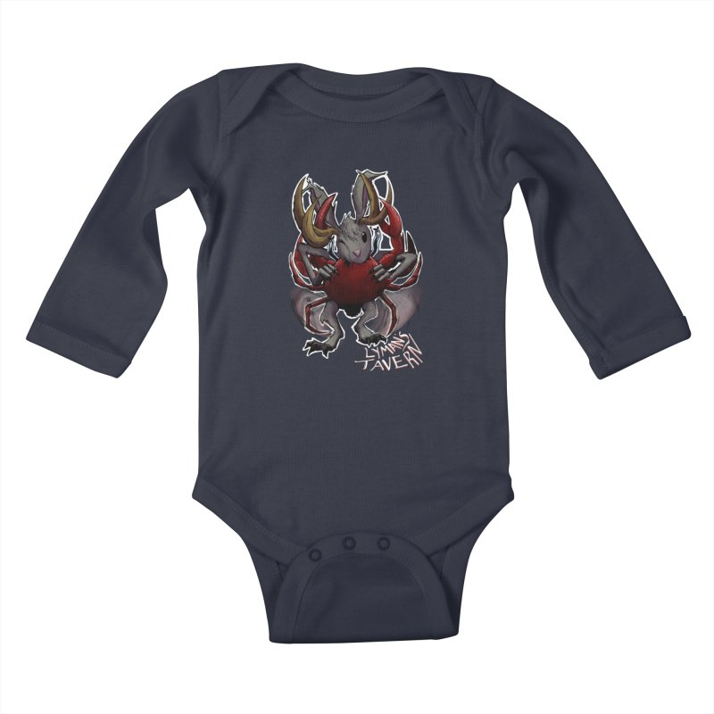 Jackelope and Crab Kids Baby Longsleeve Bodysuit by Lymans Tavern