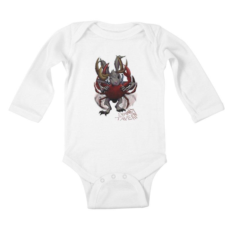 Jackelope and Crab Kids Baby Longsleeve Bodysuit by Lymans Tavern