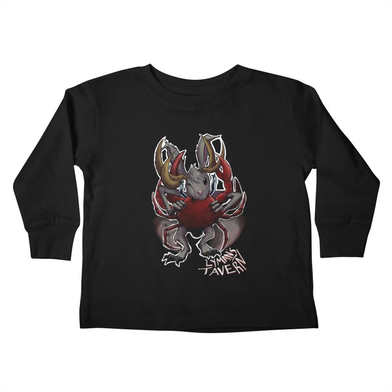 Jackelope and Crab Kids Toddler Longsleeve T-Shirt by Lymans Tavern
