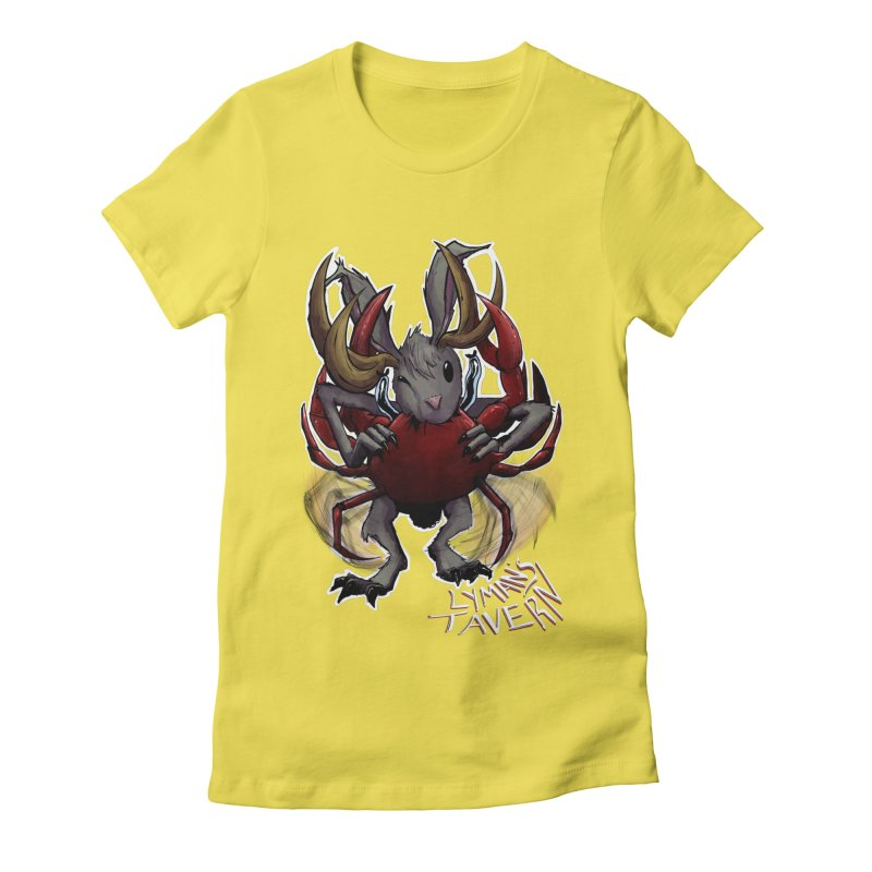 Jackelope and Crab Women's Fitted T-Shirt by Lymans Tavern