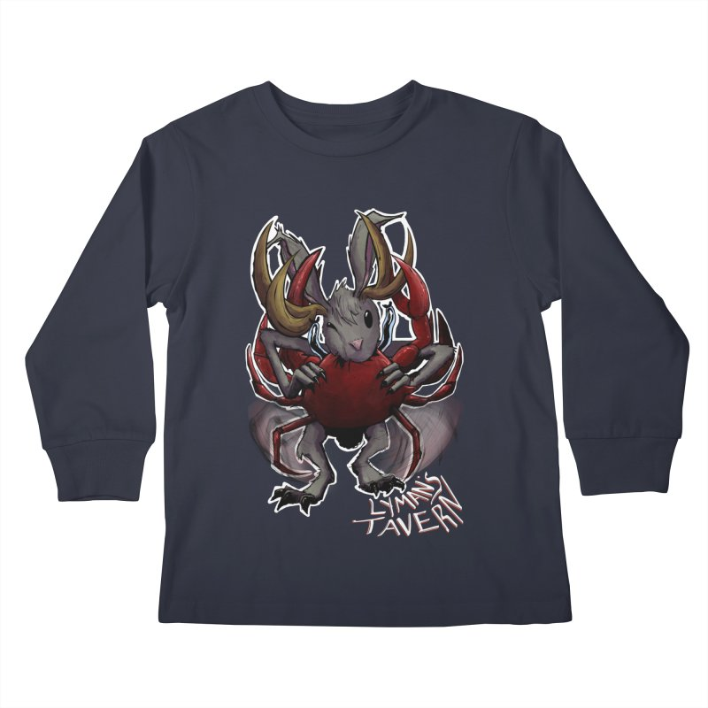 Jackelope and Crab Kids Longsleeve T-Shirt by Lymans Tavern