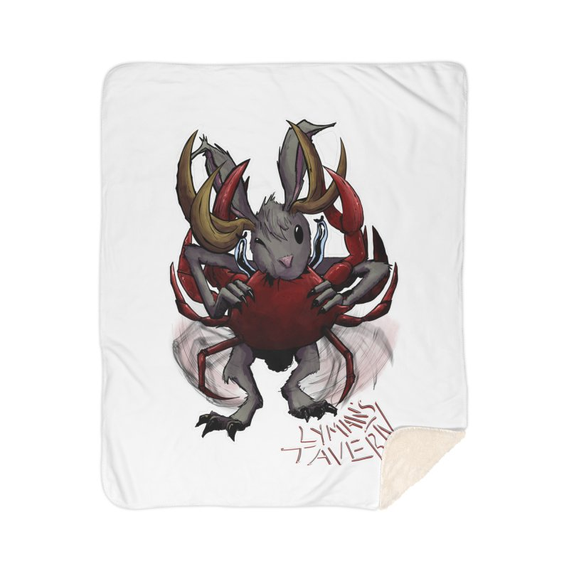 Jackelope and Crab Home Sherpa Blanket Blanket by Lymans Tavern