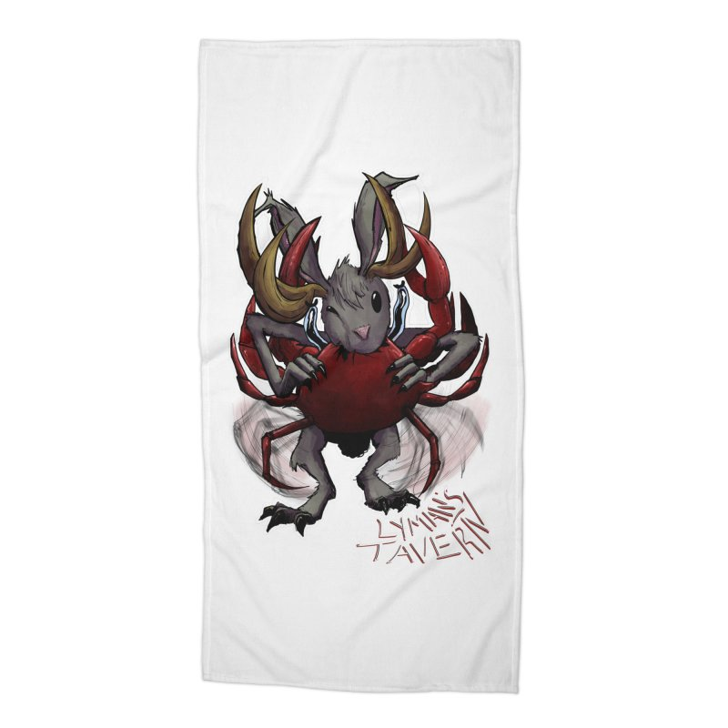 Jackelope and Crab Accessories Beach Towel by Lymans Tavern