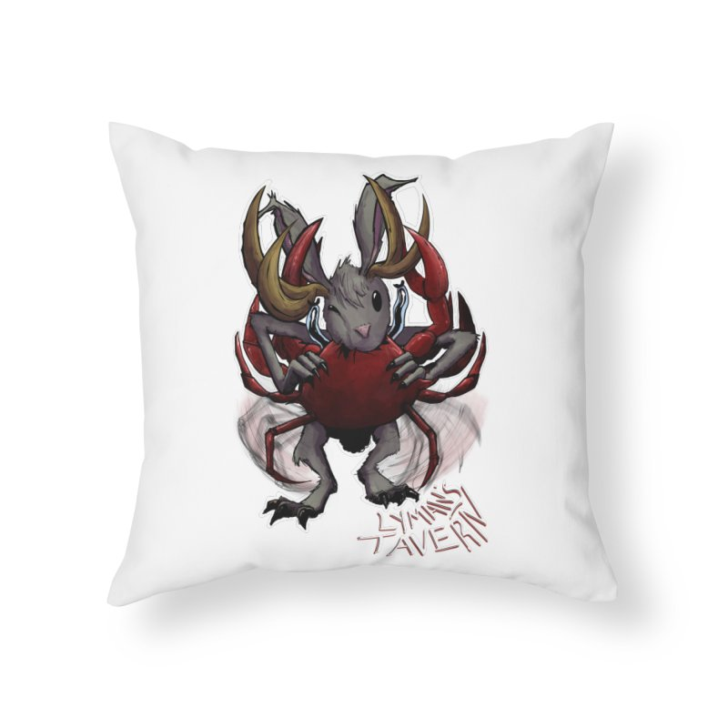 Jackelope and Crab Home Throw Pillow by Lymans Tavern