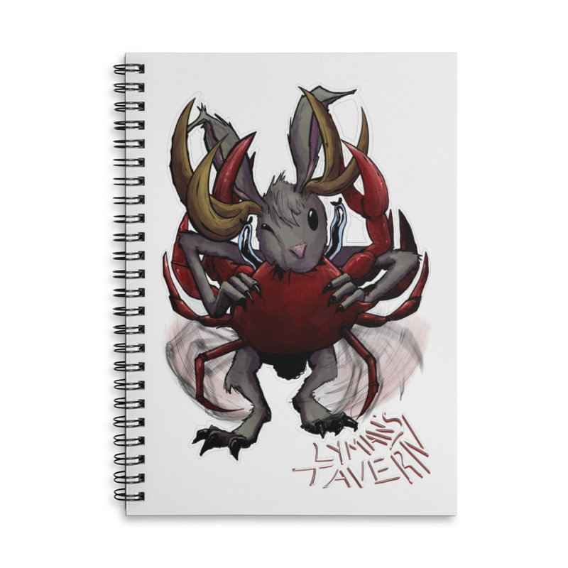 Jackelope and Crab Accessories Lined Spiral Notebook by Lymans Tavern