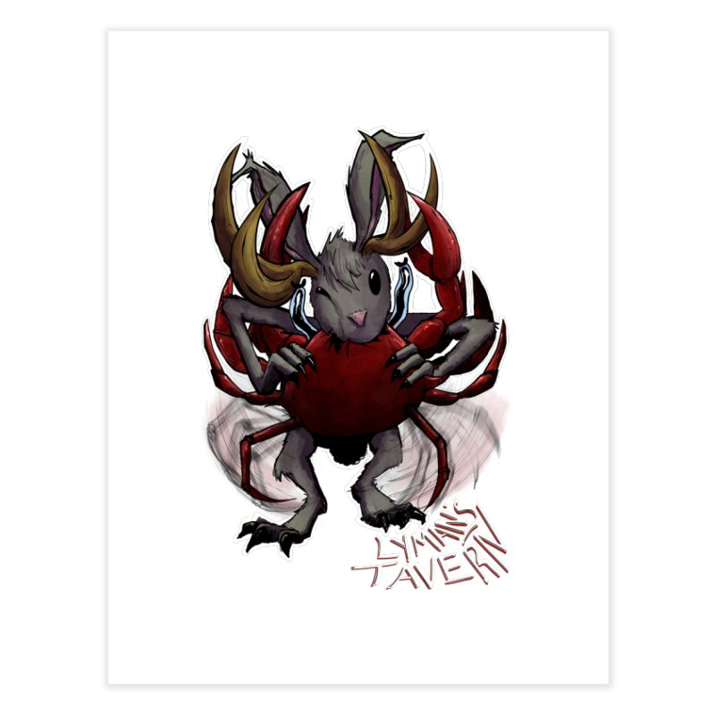 Jackelope and Crab Home Fine Art Print by Lymans Tavern