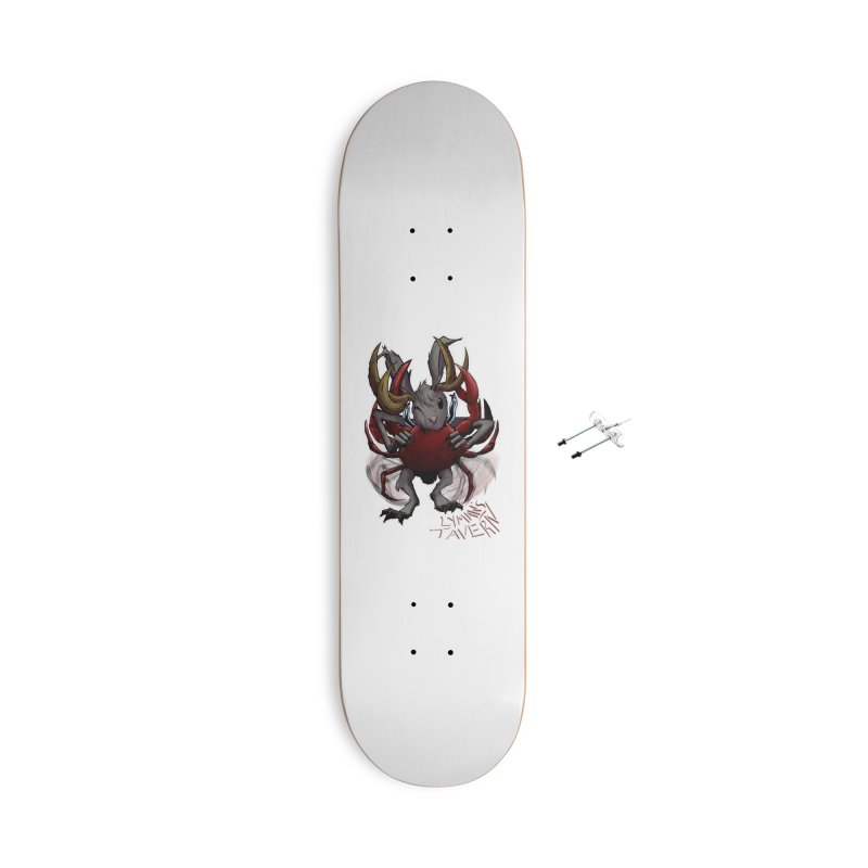 Jackelope and Crab Accessories With Hanging Hardware Skateboard by Lymans Tavern