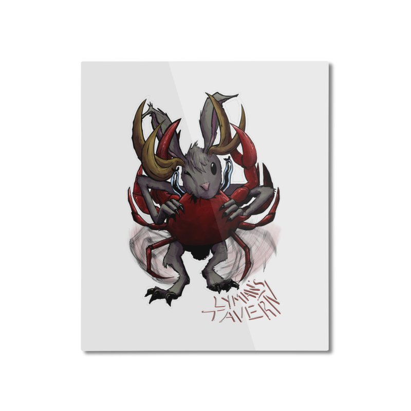 Jackelope and Crab Home Mounted Aluminum Print by Lymans Tavern