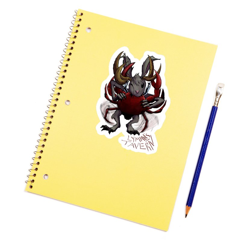 Jackelope and Crab Accessories Sticker by Lymans Tavern