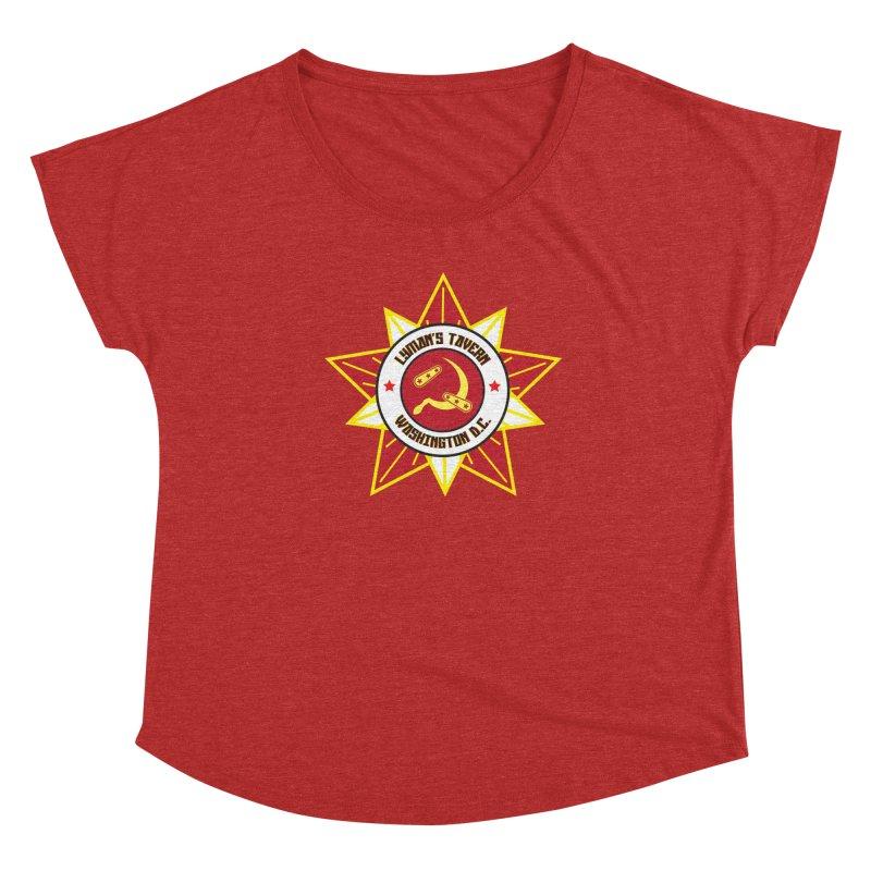 Lyman's Badge 3 Women's Scoop Neck by Lymans Tavern