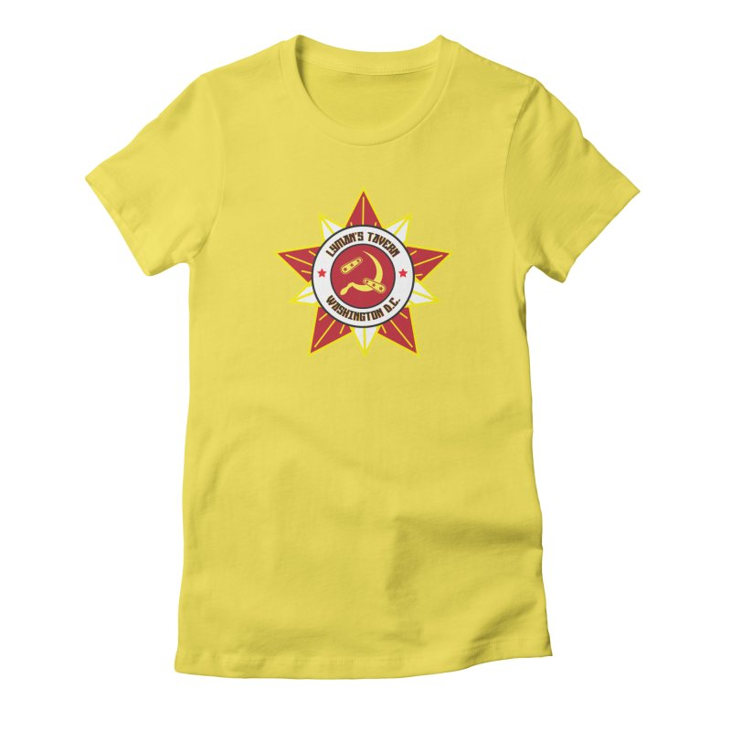 Lyman's Badge 3 Women's Fitted T-Shirt by Lymans Tavern