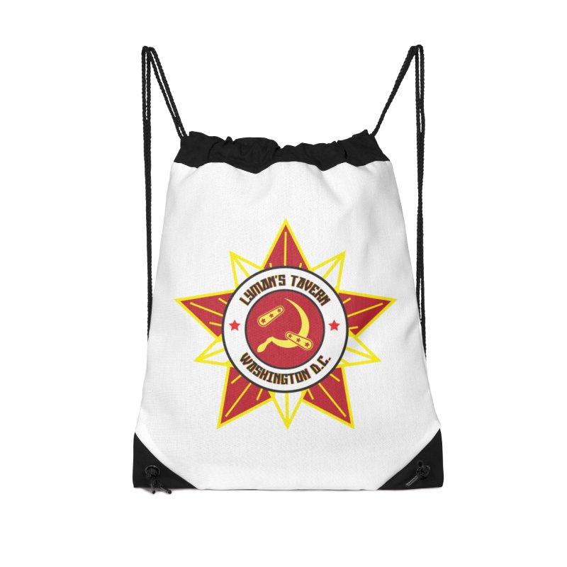 Lyman's Badge 3 Accessories Drawstring Bag Bag by Lymans Tavern