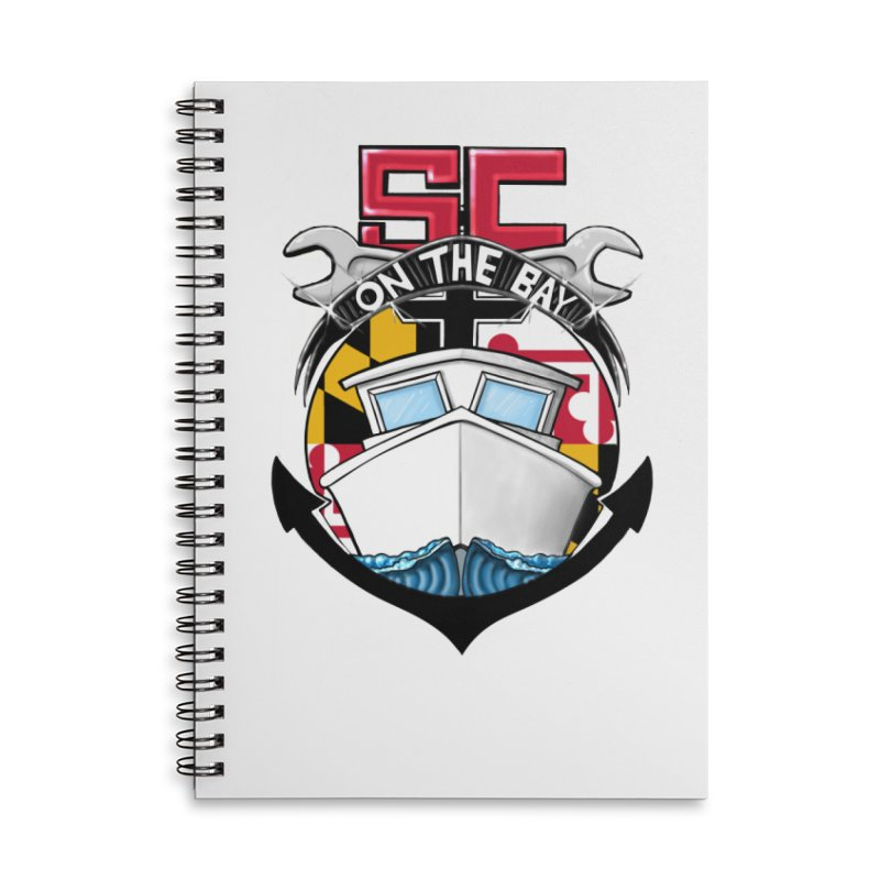 SC on the Bay Accessories Lined Spiral Notebook by MD Design Labs's Artist Shop