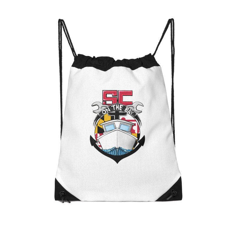 SC on the Bay Accessories Drawstring Bag Bag by MD Design Labs's Artist Shop