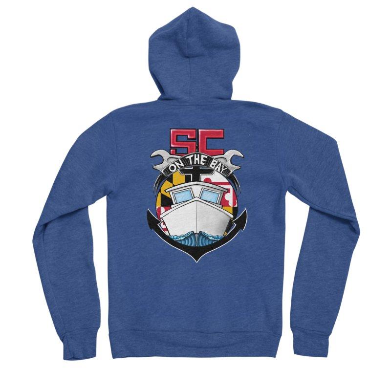SC on the Bay Men's Sponge Fleece Zip-Up Hoody by MD Design Labs's Artist Shop