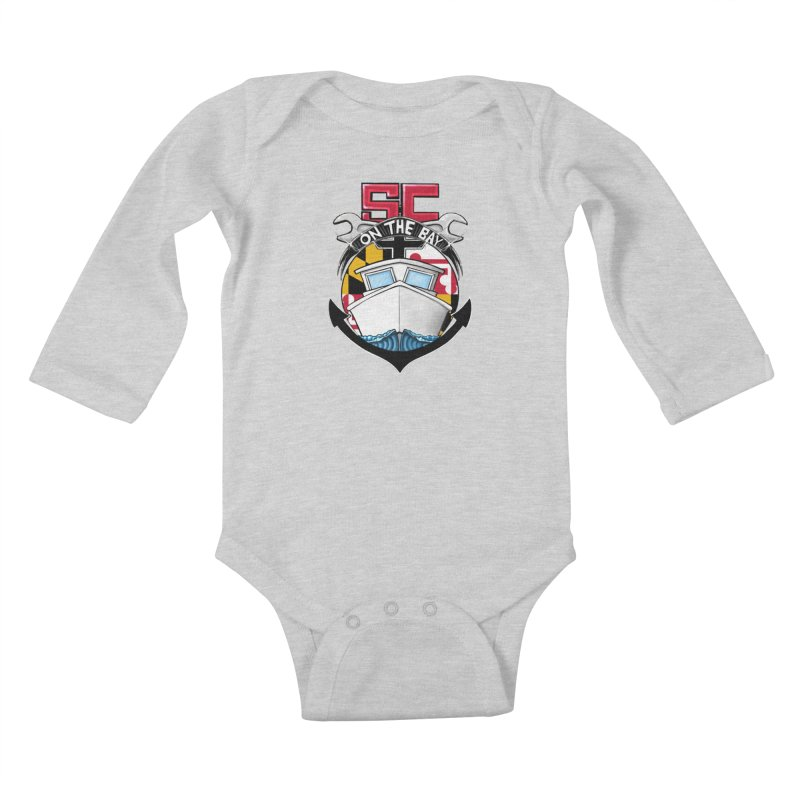 SC on the Bay Kids Baby Longsleeve Bodysuit by MD Design Labs's Artist Shop