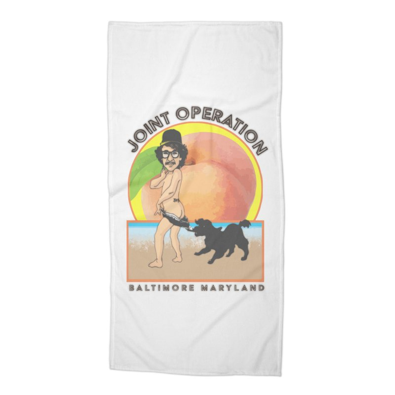 Peachy Accessories Beach Towel by MD Design Labs's Artist Shop