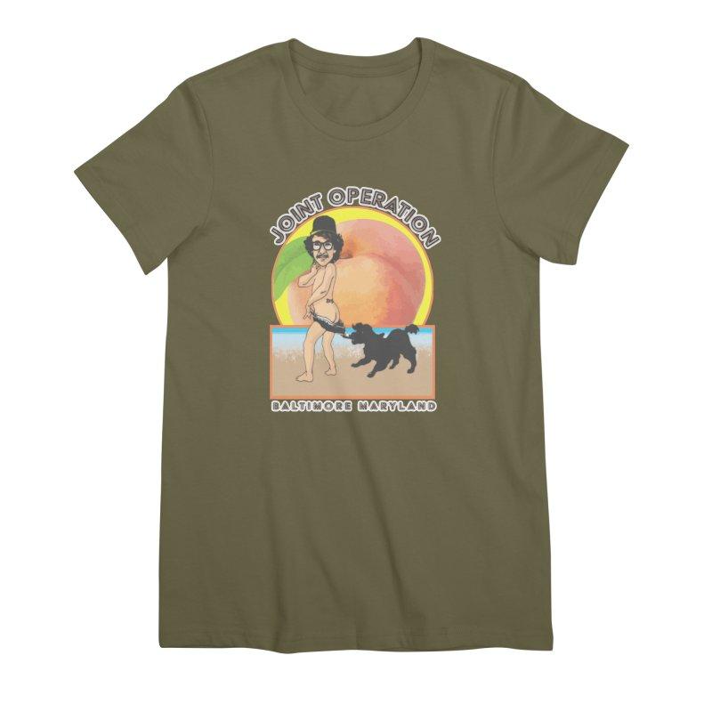 Peachy Women's Premium T-Shirt by MD Design Labs's Artist Shop
