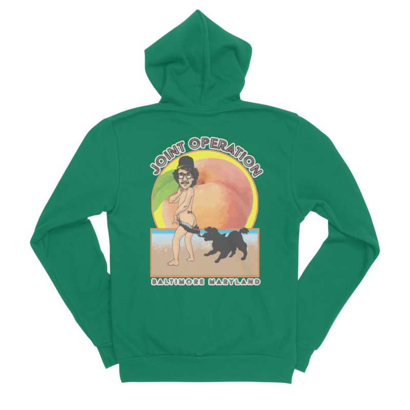 Peachy Men's Sponge Fleece Zip-Up Hoody by MD Design Labs's Artist Shop