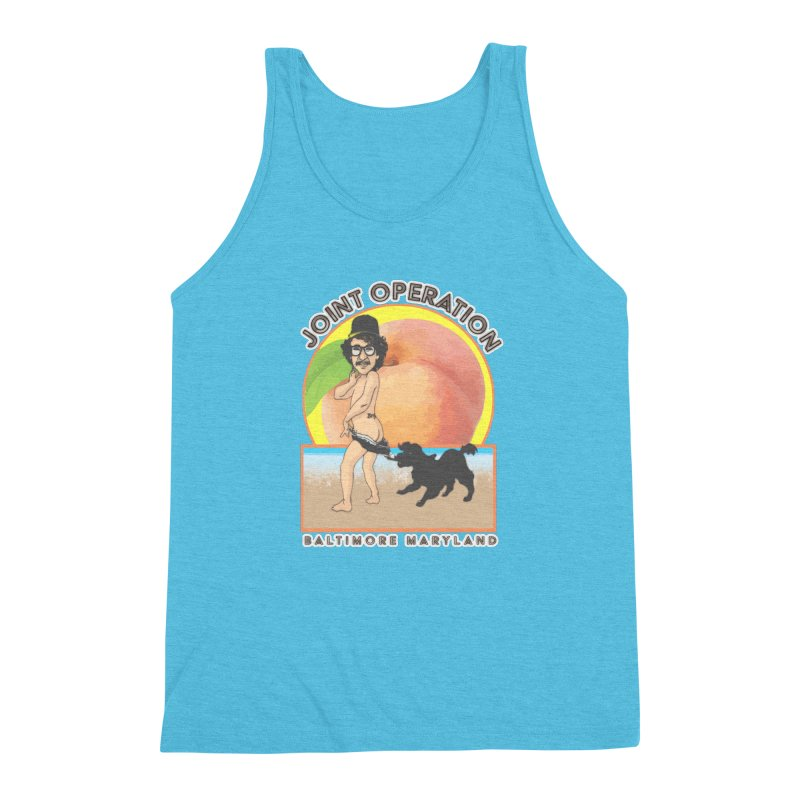 Peachy Men's Triblend Tank by MD Design Labs's Artist Shop