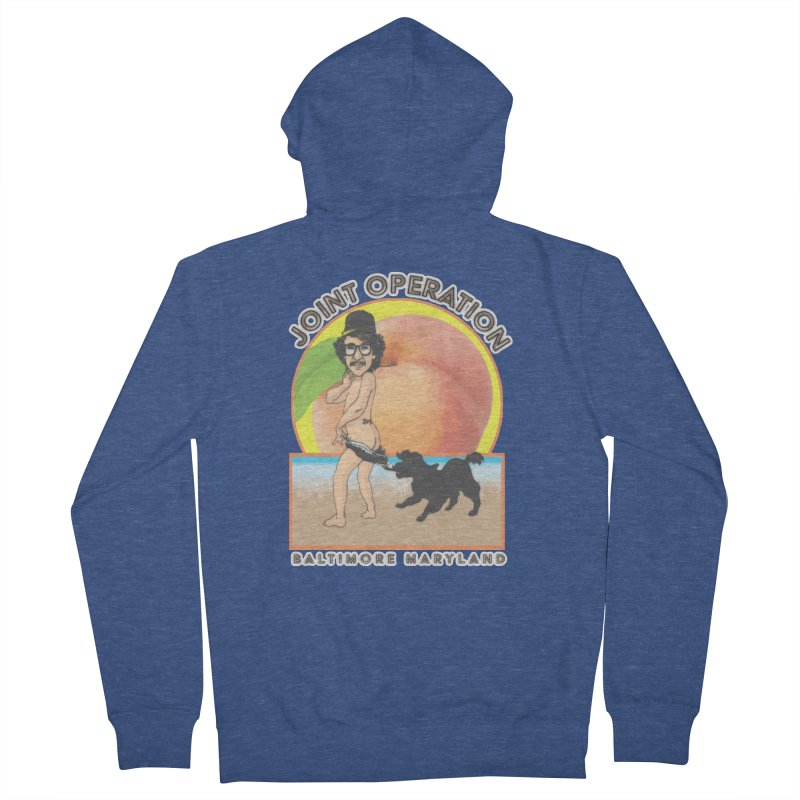 Peachy Men's French Terry Zip-Up Hoody by MD Design Labs's Artist Shop
