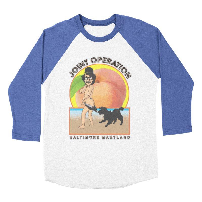 Peachy Women's Baseball Triblend Longsleeve T-Shirt by MD Design Labs's Artist Shop