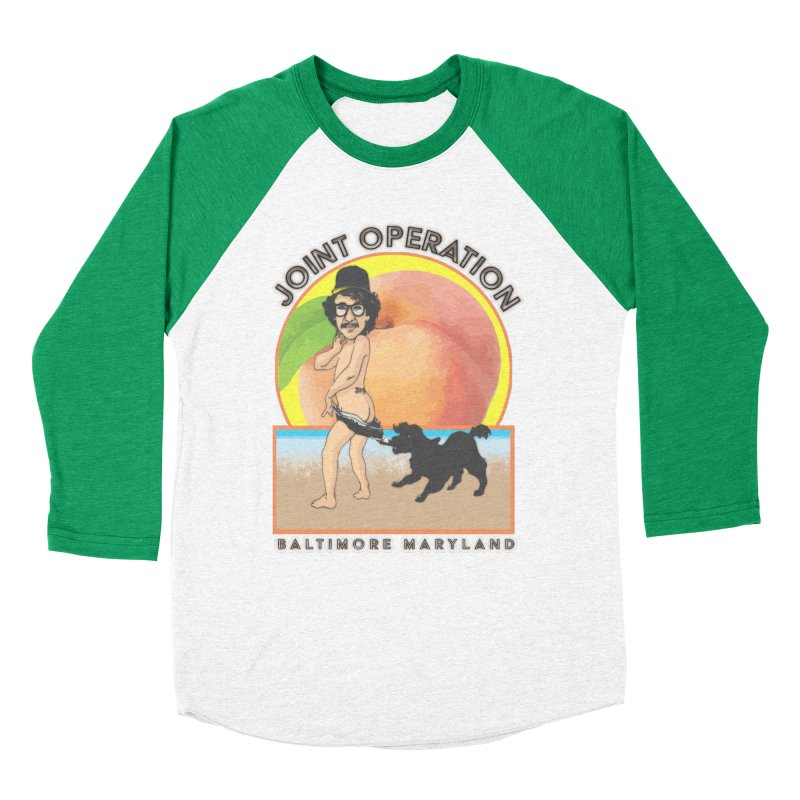 Peachy Women's Baseball Triblend Longsleeve T-Shirt by MD Design Labs's Artist Shop