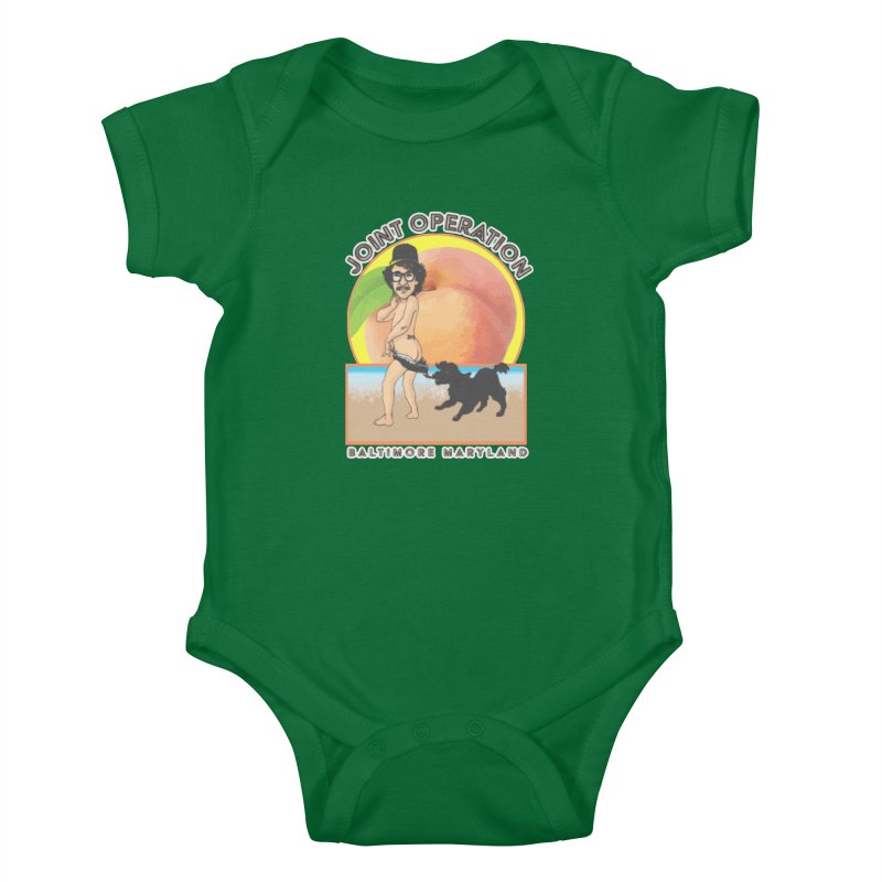 Peachy Kids Baby Bodysuit by MD Design Labs's Artist Shop