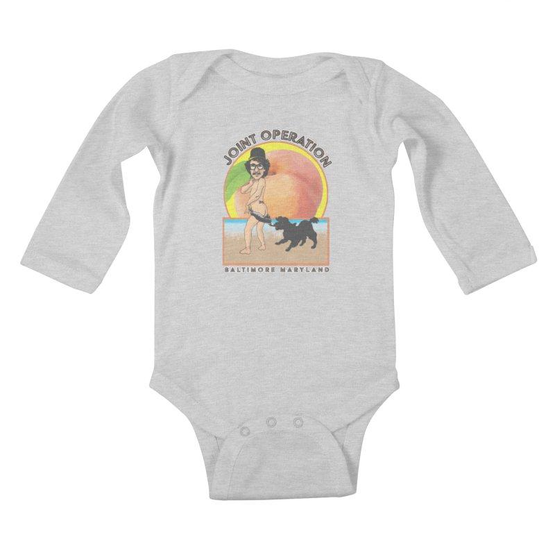 Peachy Kids Baby Longsleeve Bodysuit by MD Design Labs's Artist Shop