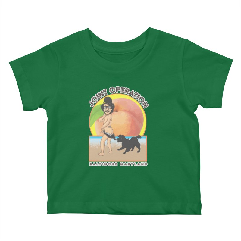 Peachy Kids Baby T-Shirt by MD Design Labs's Artist Shop