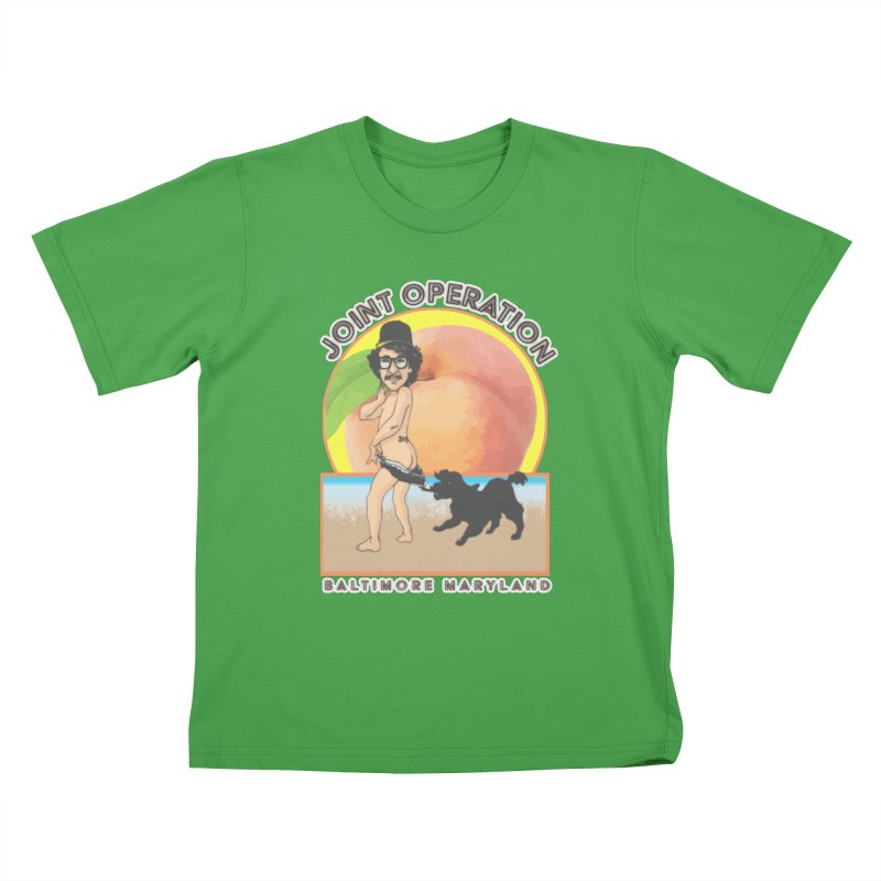 Peachy Kids T-Shirt by MD Design Labs's Artist Shop
