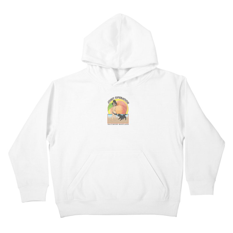 Peachy Kids Pullover Hoody by MD Design Labs's Artist Shop