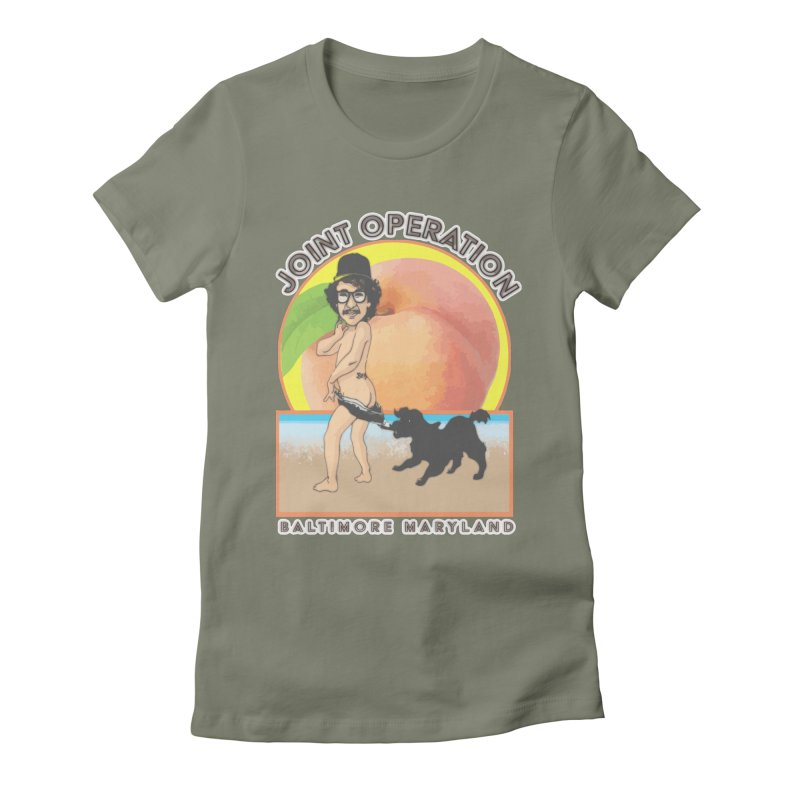 Peachy Women's Fitted T-Shirt by MD Design Labs's Artist Shop