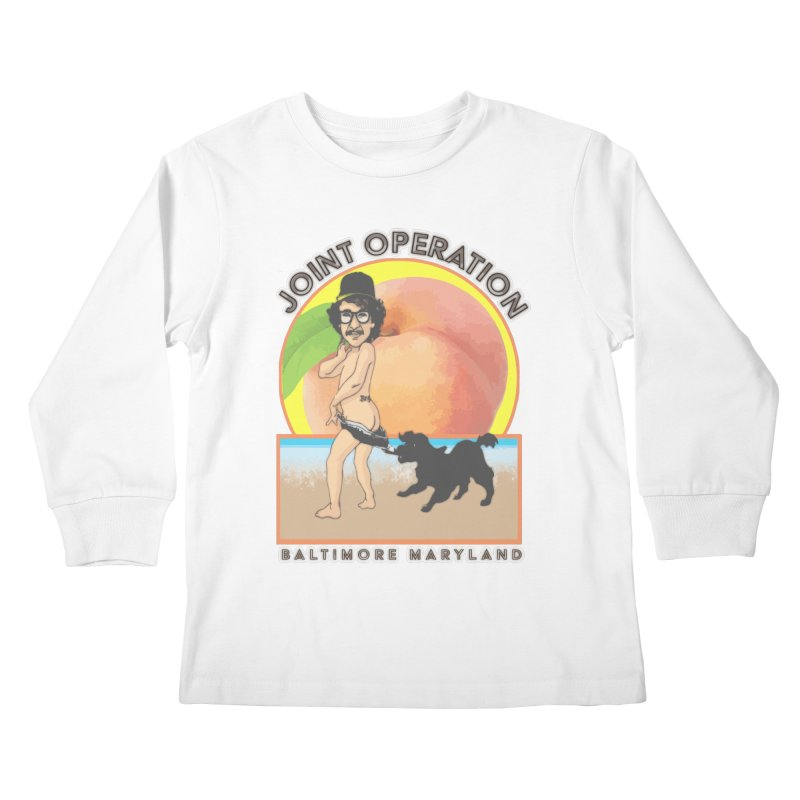 Peachy Kids Longsleeve T-Shirt by MD Design Labs's Artist Shop
