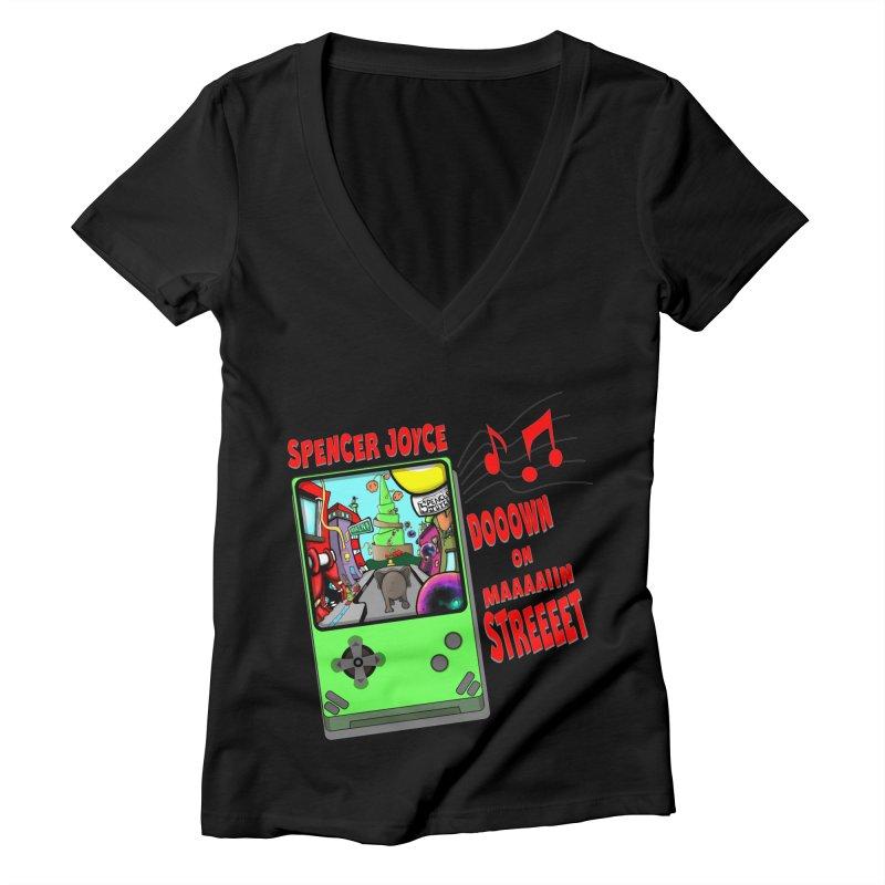 Down on Main Street Women's Deep V-Neck V-Neck by MD Design Labs's Artist Shop