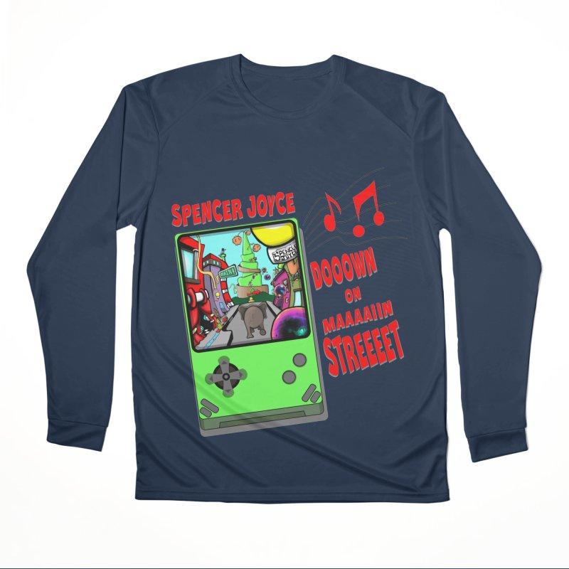 Down on Main Street Men's Performance Longsleeve T-Shirt by MD Design Labs's Artist Shop