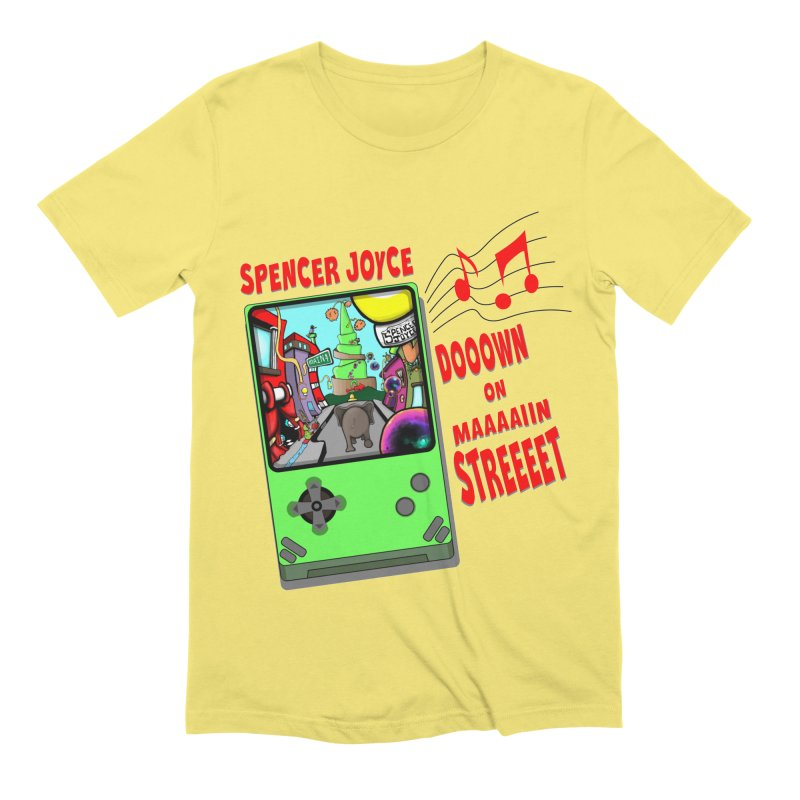 Down on Main Street Men's Extra Soft T-Shirt by MD Design Labs's Artist Shop