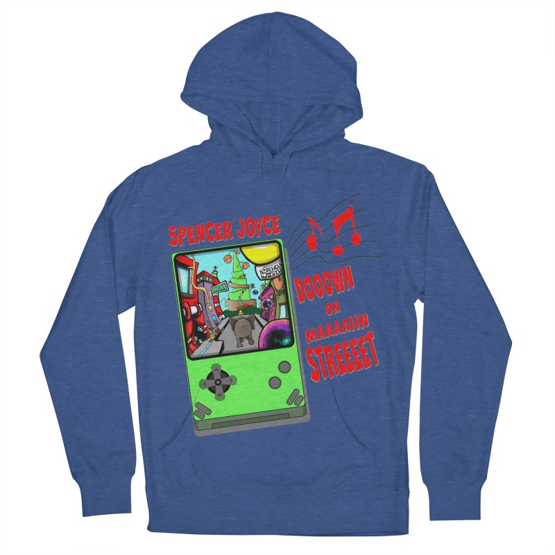 Down on Main Street Men's French Terry Pullover Hoody by MD Design Labs's Artist Shop