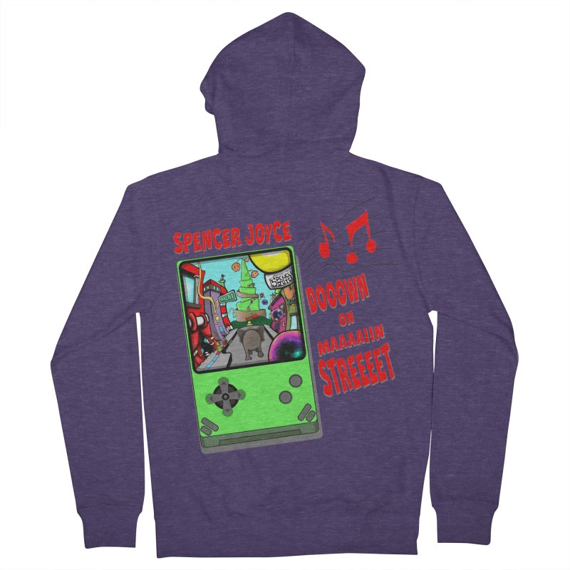 Down on Main Street Men's French Terry Zip-Up Hoody by MD Design Labs's Artist Shop