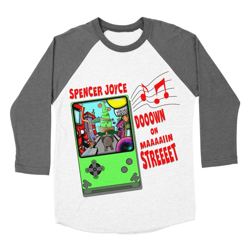 Down on Main Street Women's Baseball Triblend Longsleeve T-Shirt by MD Design Labs's Artist Shop