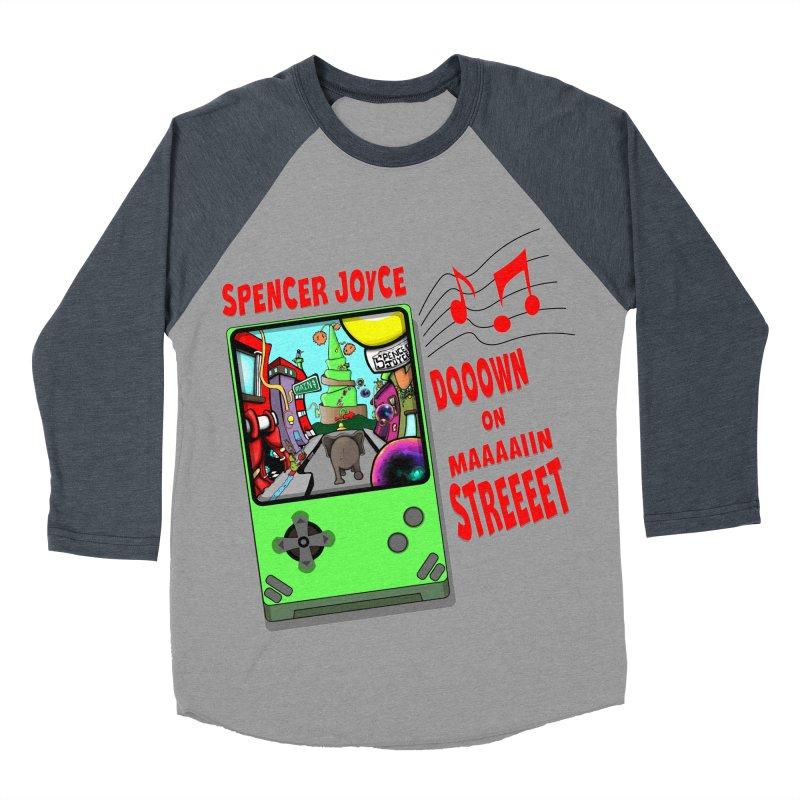 Down on Main Street Men's Baseball Triblend Longsleeve T-Shirt by MD Design Labs's Artist Shop