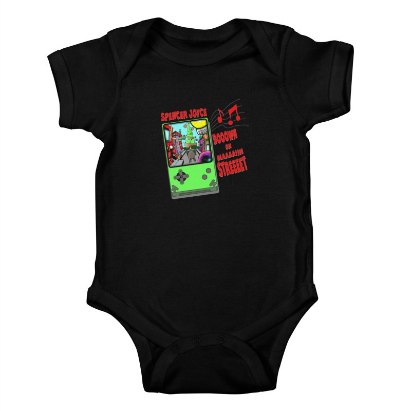 Down on Main Street Kids Baby Bodysuit by MD Design Labs's Artist Shop
